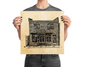 KillerBeeMoto: Pen And Ink Sketch of Belmont Neighborhood Charlottesville Tavola Restaurant