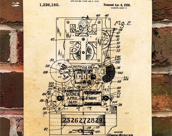 KillerBeeMoto: Duplicate of Original U.S. Patent Drawing For Vintage Calendar Clock