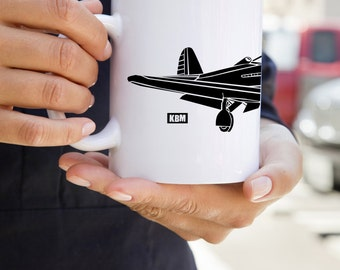 KillerBeeMoto:    P-39 Aircobra Fighter Plane Coffee Mug (White)