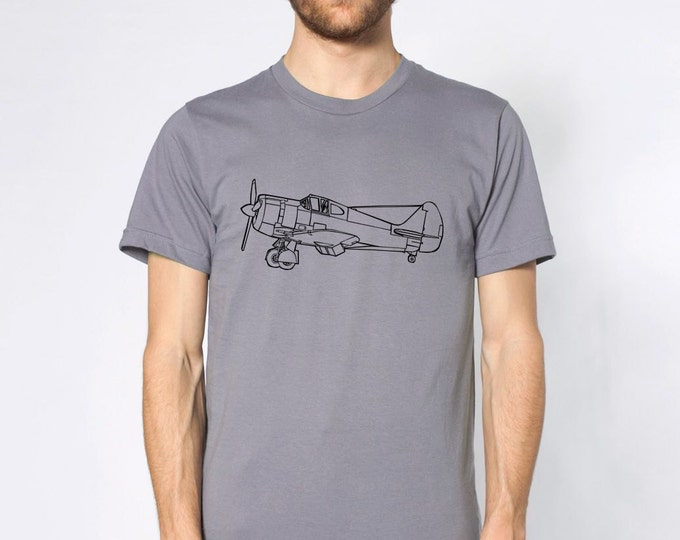 KillerBeeMoto: Boomerang Fighter Aircraft Side View Short or Long Sleeve T-Shirt