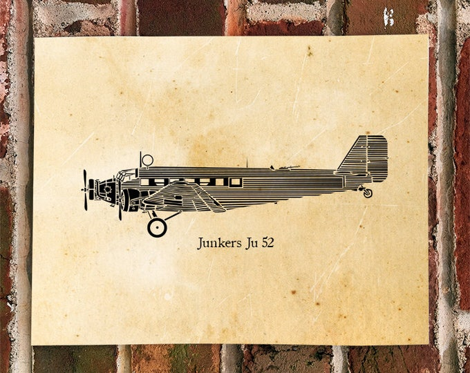 KillerBeeMoto: Limited Print Junkers Ju 52 Airplane Print 1 of 100