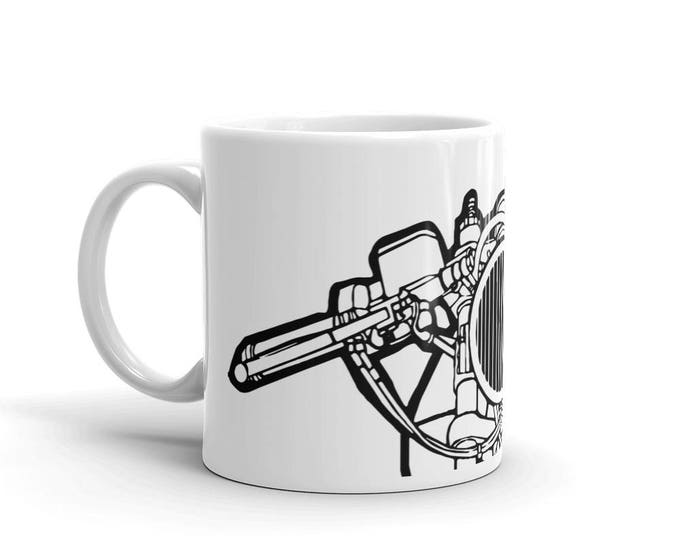 KillerBeeMoto:    Limited Release Italian Cafe Racer Coffee Mug (White)
