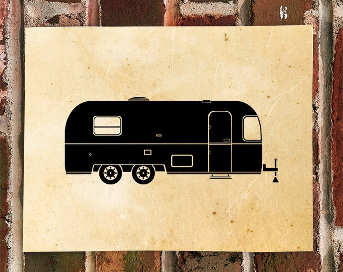 KillerBeeMoto: Limited Print Vintage Camping Mobile Trailer Print 1 of 100