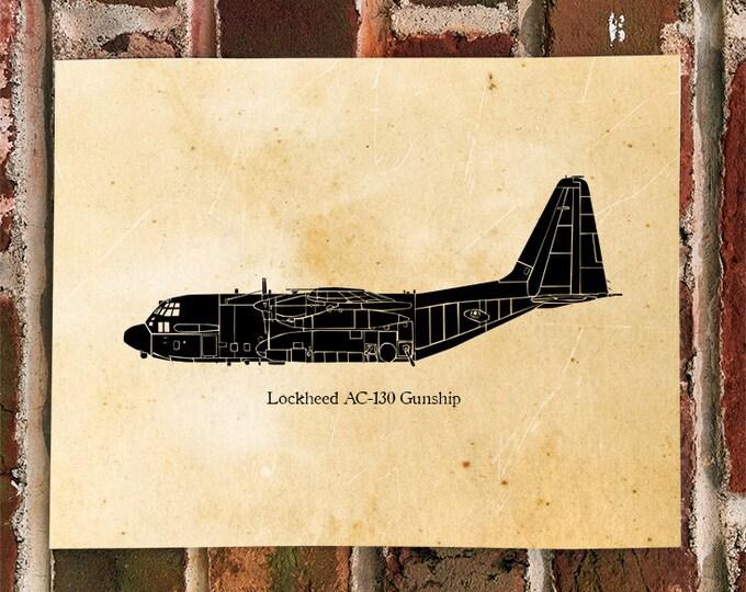 KillerBeeMoto: Illustration of AC-130 Gunship Aircraft
