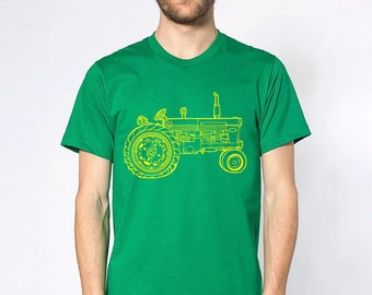 KillerBeeMoto: Vintage Farm Tractor Short And Long Sleeve Shirt Cartoon Shirt