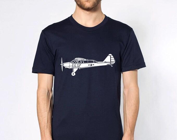 KillerBeeMoto: Limited Release Piper YL-14 Reconnaissance Aircraft Short Sleeve T-Shirt