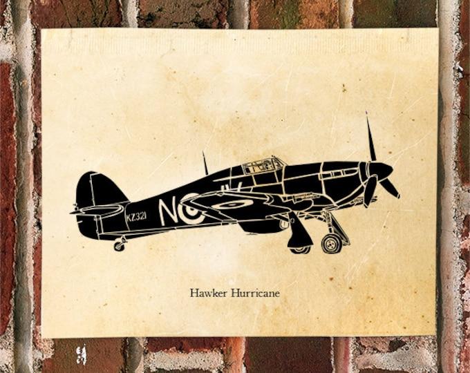 KillerBeeMoto: Limited Print RAF Hawker Hurricane Aircraft Print