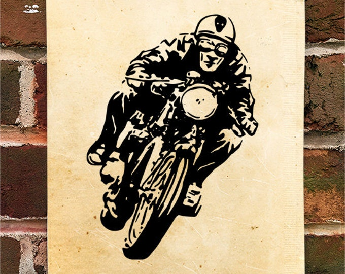KillerBeeMoto: Limited Print Cafe Racer Motorcycle Rider 1 of 50