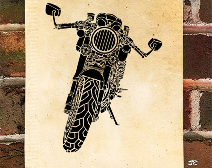 KillerBeeMoto: Limited Print Vintage Italian Engineered Cafe Racer Motorcycle Print 1 of 50