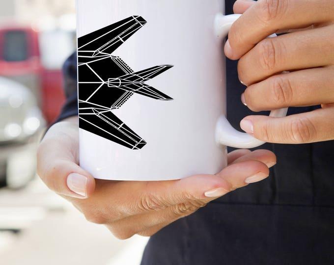 KillerBeeMoto:  F-117 Nighthawk Stealth Fighter Jet Coffee Mug