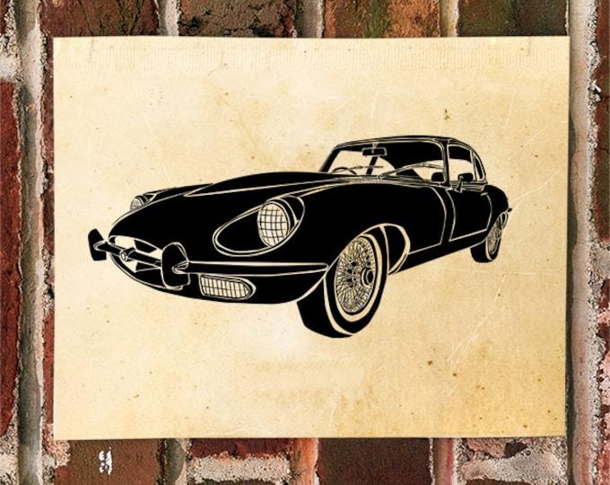 KillerBeeMoto: Limited Print Vintage British Sports Car Automotive Print Print 1 of 50