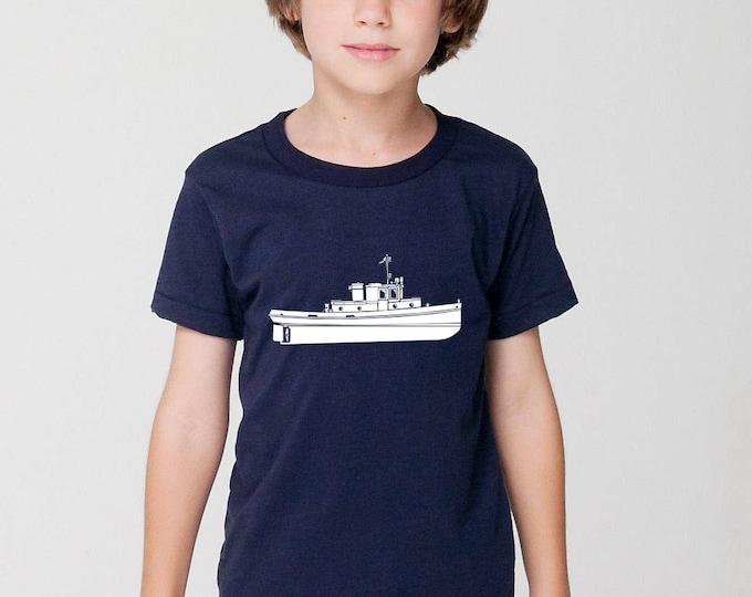 KillerBeeMoto: Vintage 35 Foot Tug Boat Short Or Long Sleeve T-Shirt