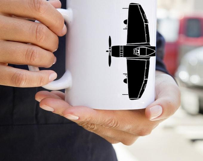 KillerBeeMoto:   Coffee Mug  P47 Thunderbolt Fighter Plane