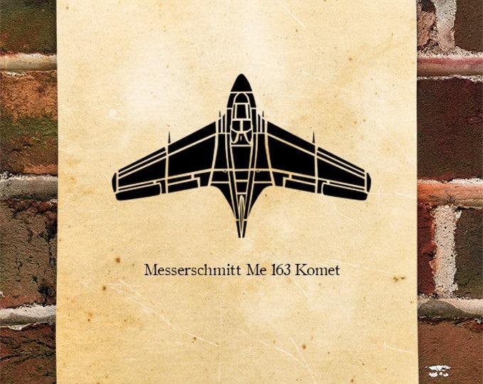 KillerBeeMoto: Limited Print Messerschmitt Me 163 Komet Fighter Aircraft Jet