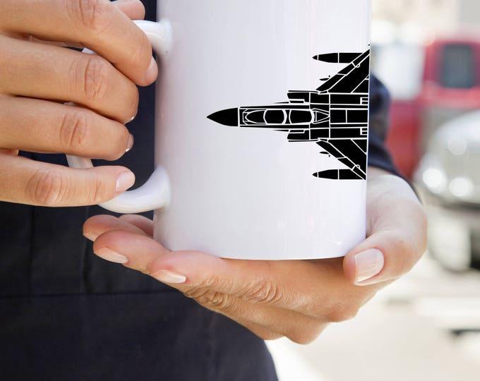 KillerBeeMoto: F4 Phantom Fighter/Bomber Plane Coffee Mug