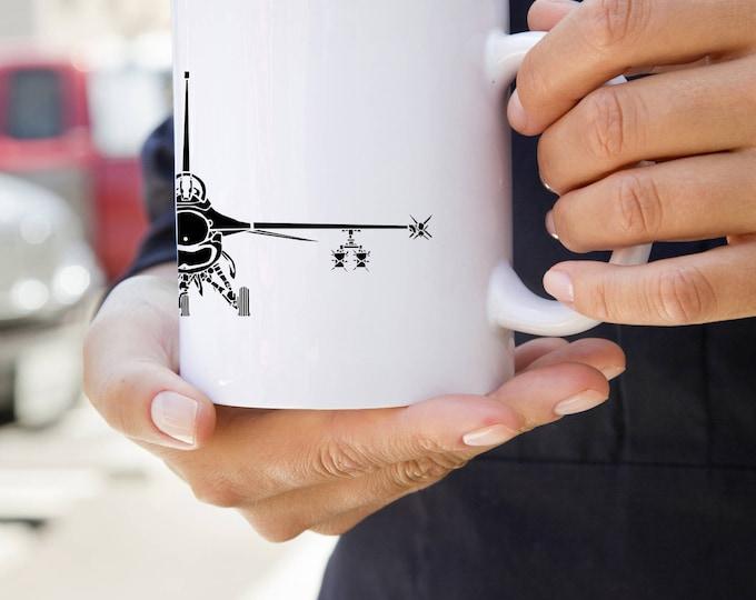 KillerBeeMoto:    F16 Fighting Falcon Aircraft Coffee Mug