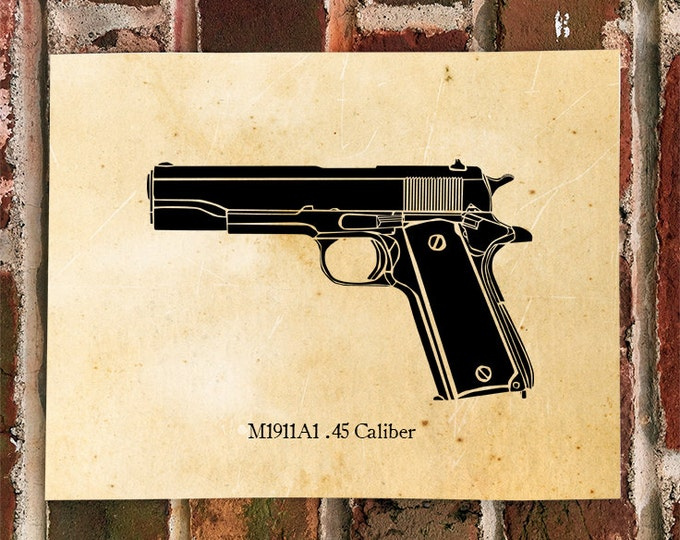 KillerBeeMoto: M1911 A1 .45 Caliber Pistol Print