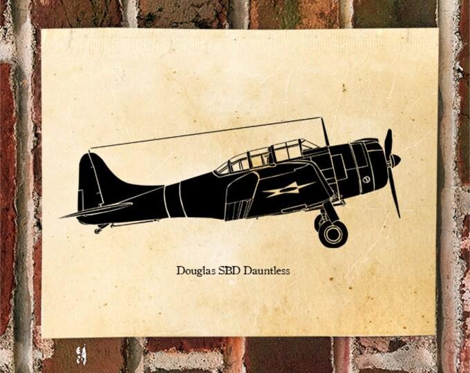 KillerBeeMoto: Limited Print Vintage Douglas SBD Dauntless Aircraft Print 1 of 100