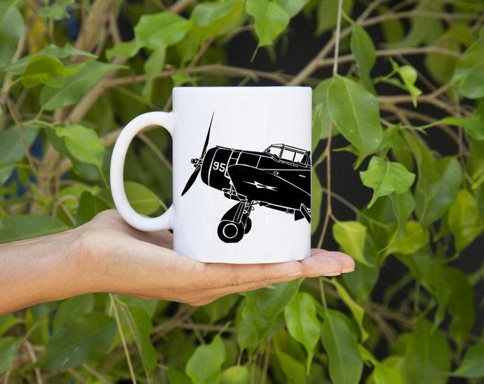 KillerBeeMoto:    Coffee Mug Seversky P-35A Fighter Plane Coffee Mug