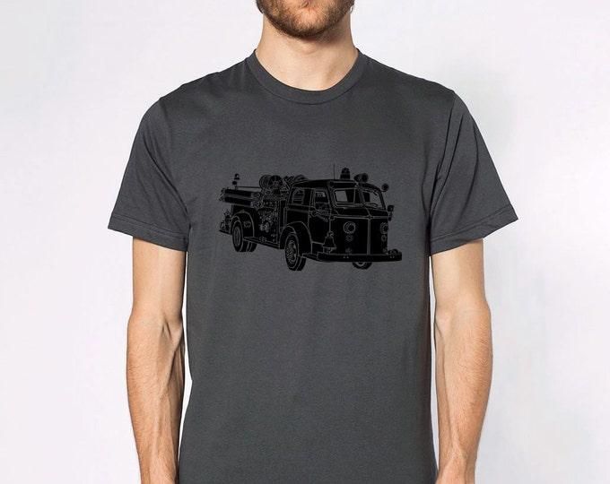 KillerBeeMoto: Vintage Fire Engine Truck Short & Long Sleeve Shirt