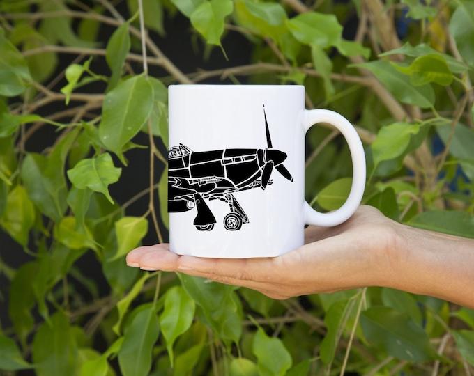 KillerBeeMoto:    Coffee Mug Limited Print Hurricane Fighter Plane