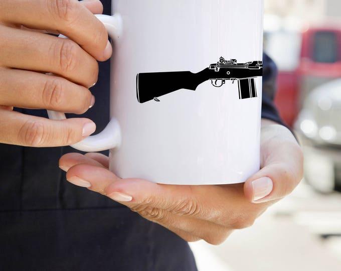 KillerBeeMoto:    M14 Rifle Print on Coffee Mug