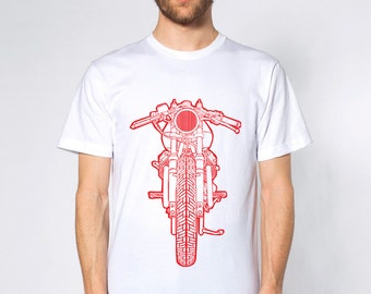 KillerBeeMoto: Cafe Racer Motorcycle Short Or Long Sleeve T-Shirt