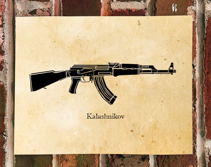 KillerBeeMoto: Limited Print AK47 Kalashnikov Assault Rifle Print