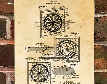 KillerBeeMoto: Duplicate of Original U.S. Patent Drawing For Vintage Dart Board