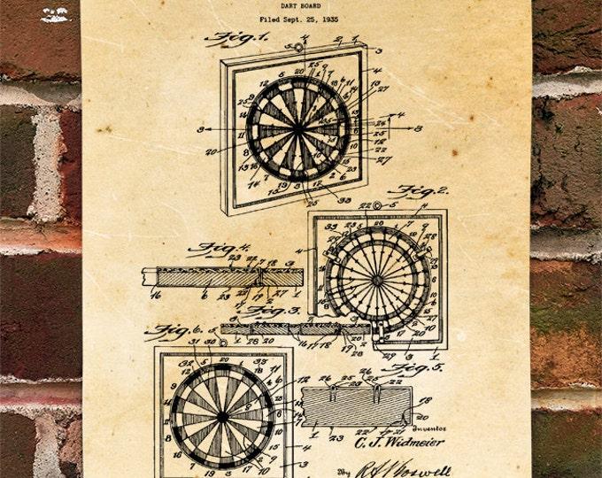 KillerBeeMoto: Duplicate of Original U.S. Patent Drawing For Vintage Dart Board