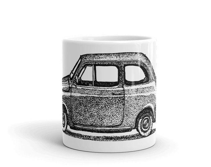 KillerBeeMoto: Limited Release Hand Drawn Print Of Italian Engineered Car Coffee Mug (White)