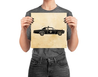 KillerBeeMoto: Vintage Patrol Cop Car Limited Print