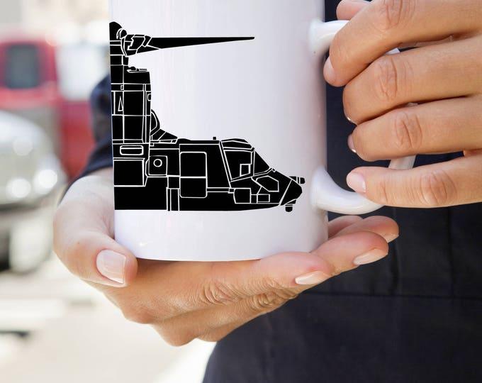 KillerBeeMoto:  V-22 Osprey Tiltrotor Aircraft Coffee Mug