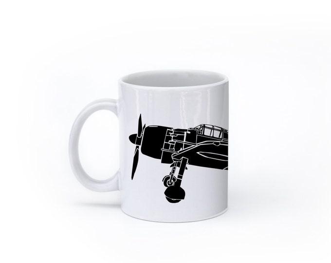 KillerBeeMoto: A6M Japanese Zero Fighter Plane Coffee Mug (White)