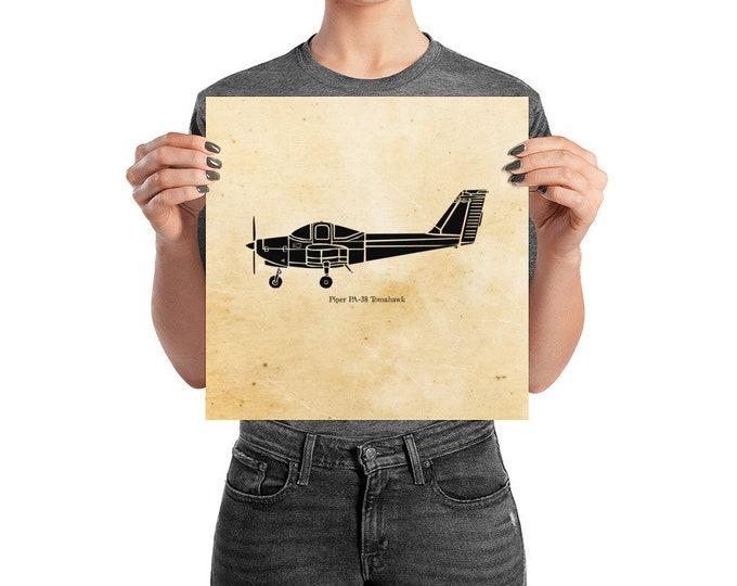 KillerBeeMoto: Limited Print PA-38 Aircraft Print 1 of 100