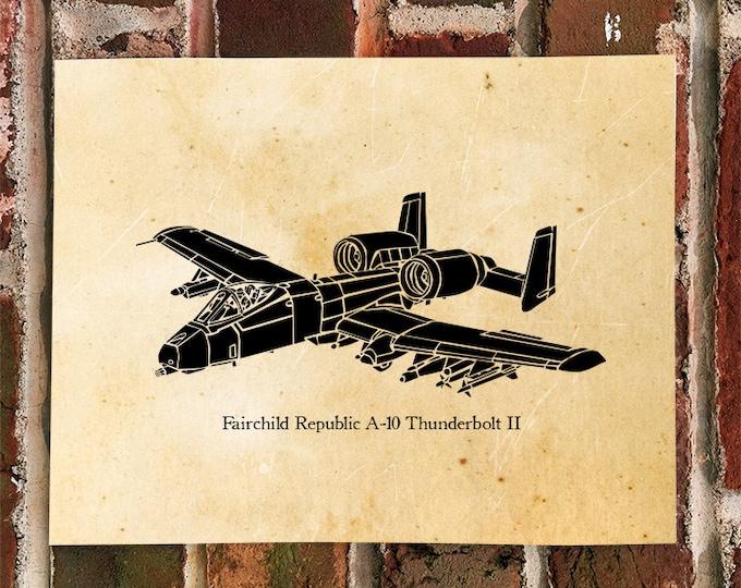 KillerBeeMoto: Limited Print A-10 Thunderbolt II Warthog Aircraft Print 1 of 50