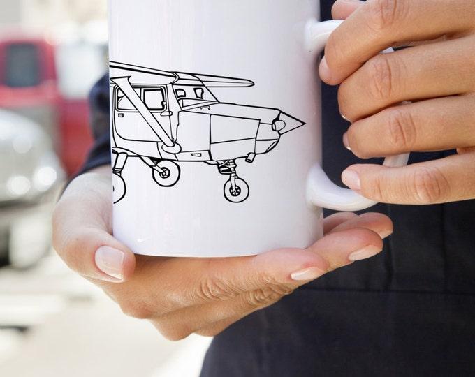 KillerBeeMoto: Coffee Mug With Vintage Recreational Aircraft