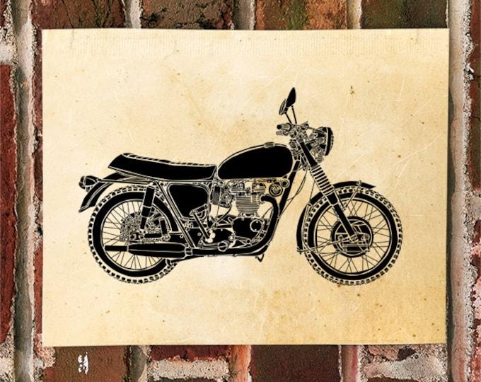 KillerBeeMoto: Limited Print Vintage British Motorcycle Drawing 1 of 50