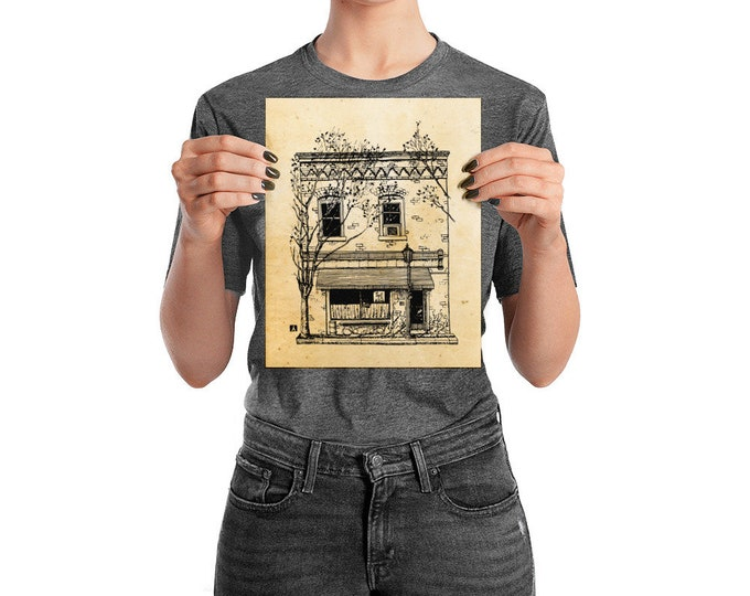 KillerBeeMoto: Charlottesville Area Bucket List Continental Divide on West Main Street Ink Sketch Drawing On Various Mediums