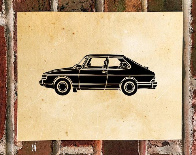 KillerBeeMoto: Limited Print Vintage Scandinavian Car 1 of 100 Prints
