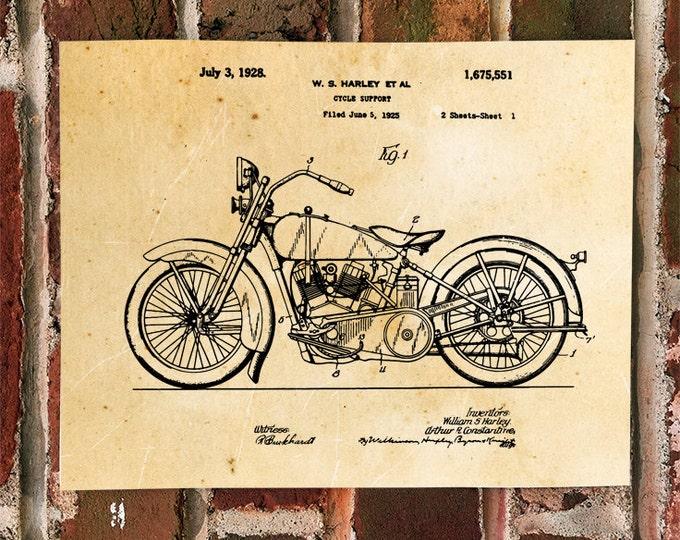 KillerBeeMoto: Duplicate of Original U.S. Patent Drawing For 1920's Harley Davidson Motorcycle