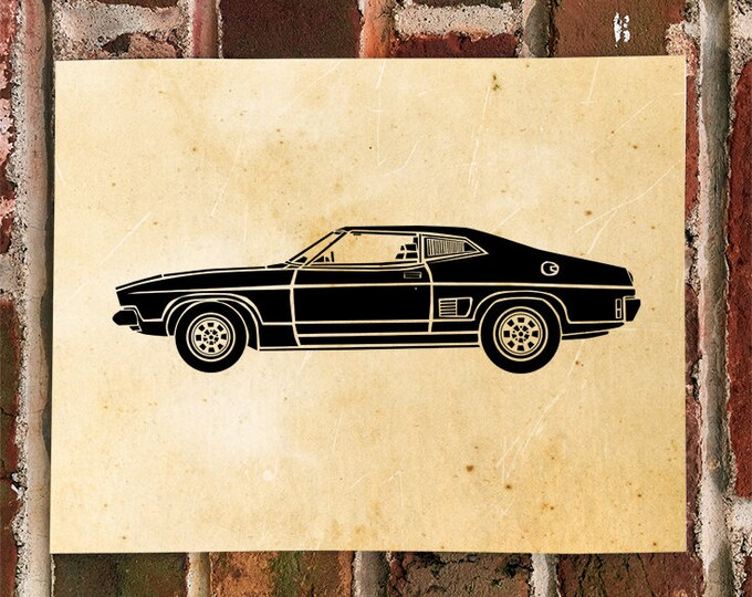 KillerBeeMoto: Limited Print Vintage Hot Rod Muscle Car Automotive Print Print 1 of 100