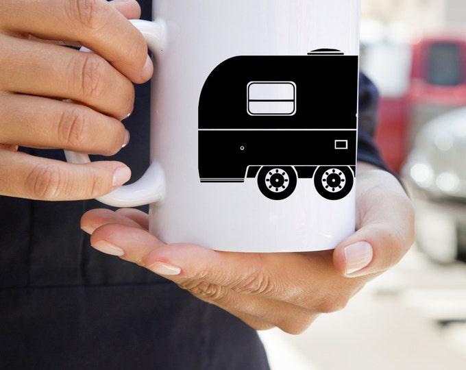 KillerBeeMoto:    Vintage Camping Trailer Coffee Mug (White)