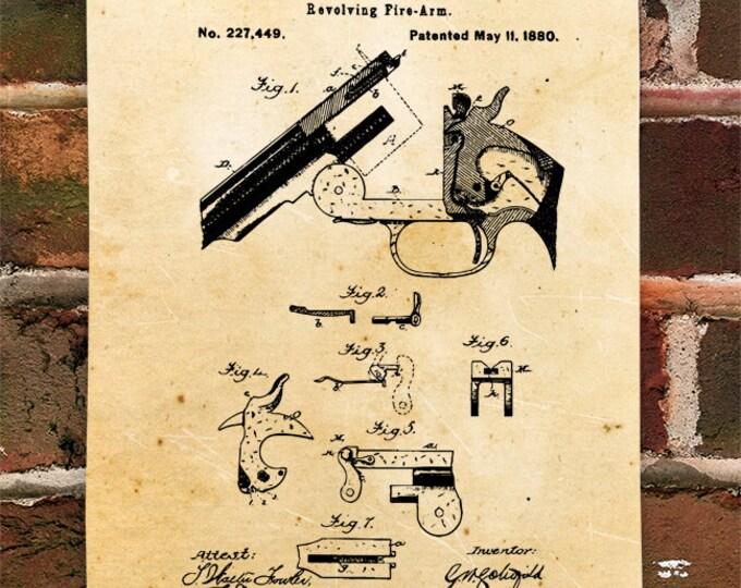 KillerBeeMoto: Duplicate of Original U.S. Patent Drawing For Schofield Pistol
