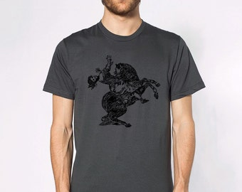 KillerBeeMoto: Goya y Lucientes Woman Carried Off By A Horse On A Horse T-Shirt