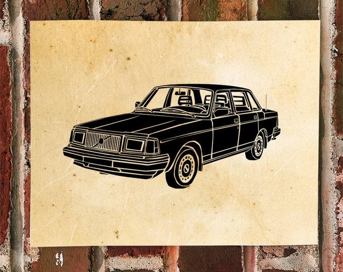 KillerBeeMoto: Limited Print Vintage Swedish Sedan Automotive Print Print 1 of 50