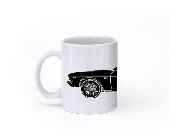 KillerBeeMoto:    Limited Release American Engineered Muscle Car Hot Rod Side View Coffee Mug (White)