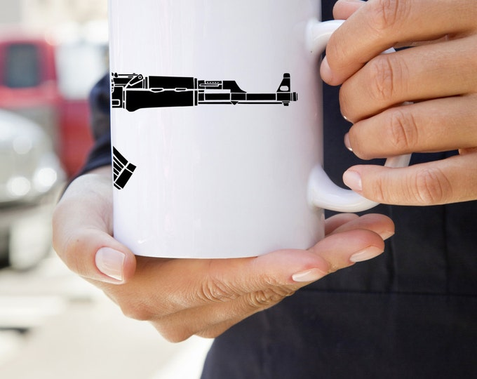 KillerBeeMoto:    AK47 Kalashnikov Assault Rifle On A Coffee Mug