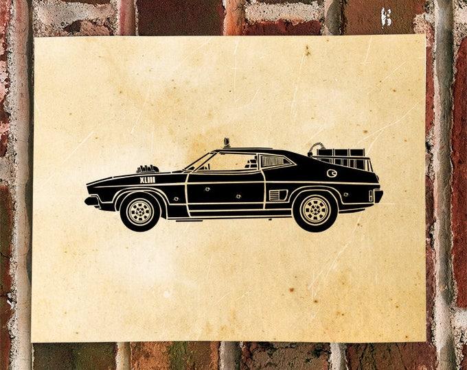 KillerBeeMoto: Limited Print Vintage Apocolypse Hot Rod Muscle Car Automotive Print Print 1 of 100