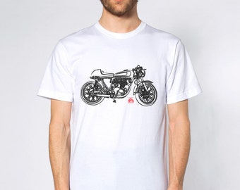 KillerBeeMoto: Limited Release Japanese Engineered Vintage Cafe Racer Side View Short And Long Sleeve Motorcycle Shirts Japanese Style Ink